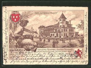 Lithographie Düsseldorf, Industrie-, Gewerbe- und Deutsch-Nationale Kunst-Ausstellung 1902, Cafe