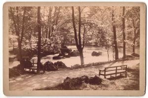 Fotografie unbekannter Fotograf, Ansicht München, Wasserfall im Englischen Garten