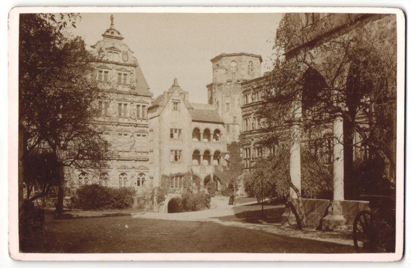 Fotografie unbekannter Fotograf, Ansicht Heidelberg, historische Gebäude