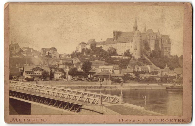 Fotografie E. Schroeter, Meissen, Ansicht Meissen, Blick auf Albrechtsburg