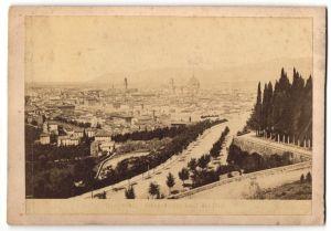 Fotografie unbekannter Fotograf, Ansicht Florenz, Panorama dei Viale dei Colli