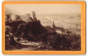 Fotografie L. Meder, Heidelberg, Ansicht Heidelberg, Panorama mit Schloss und Schäfer