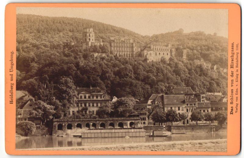 Fotografie Heidelberg fotografie carl lange heidelberg ansicht heidelberg blick vom