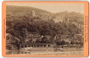 Fotografie Edm. v. König, Heidelberg, Ansicht Heidelberg, das Schloss von der Hirschgasse