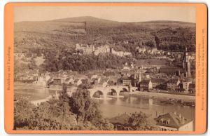 Fotografie Edm. von König, Heidelberg, Ansicht Heidelberg, Blick vom Philosophenweg