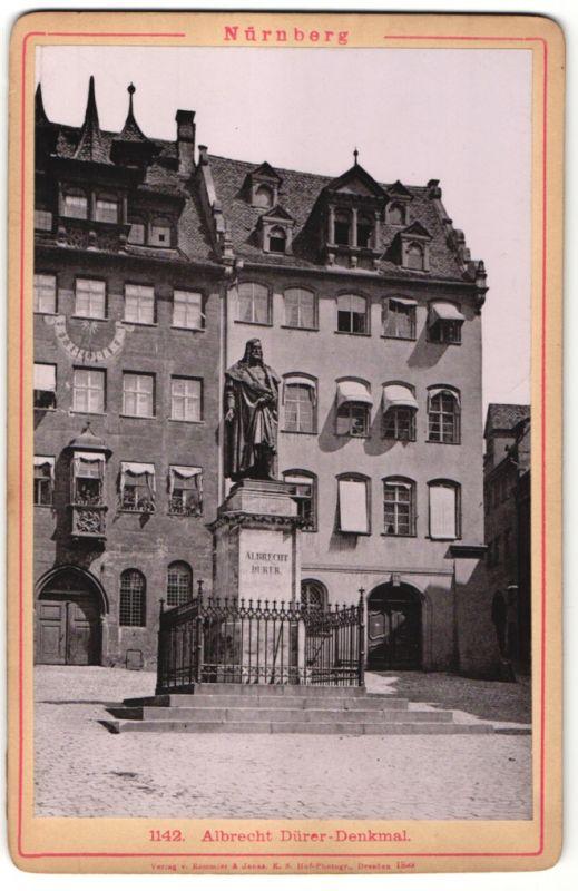 Fotografie Römmler & Jonas, Dresden, Ansicht Nürnberg, Albrecht Dürer-Denkmal