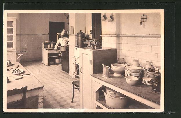 Kochen als thema in der rubrik alte ansichtskarten motive for Arbeit als koch