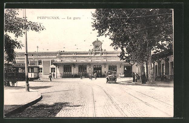 AK Perpignan, la gare et tramway