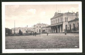 AK Vom östlichen Kriegsschauplatz, Bahnhof in Wilna