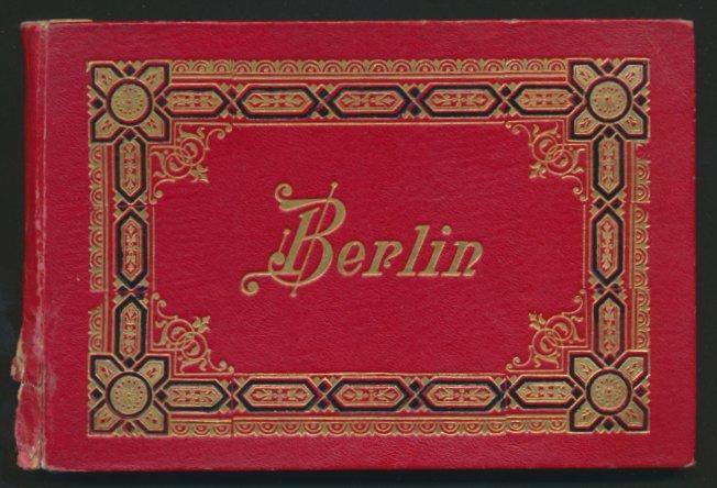 Leporello-Album Berlin, mit 24 Lithographie-Ansichten, Synagoge, Bahnhof Friedrichstr. & Alexanderplatz, schöner Einband