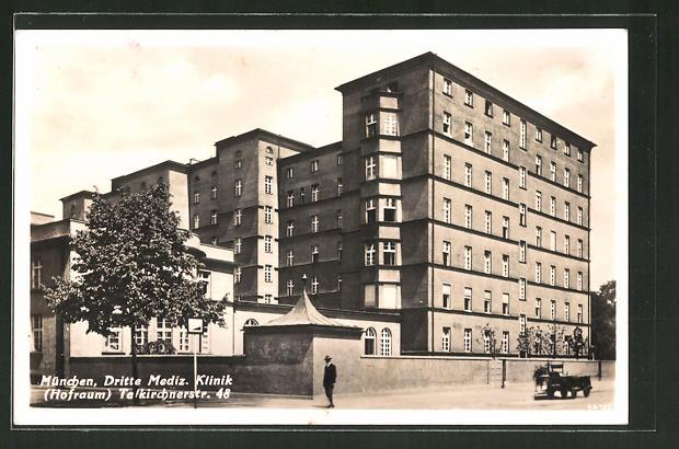 Ak Munchen Dritte Medizinische Klinik Thalkirchner Strasse 48