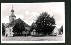 AK Wendisch-Buchholz, Marktplatz mit Kirche