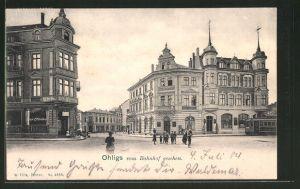 AK Ohligs, Strassenpartie am Bahnhof mit Hotel Kaiserhof
