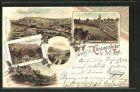 Lithographie Arnstein, Wassmann's Mühle, Weihersmühle