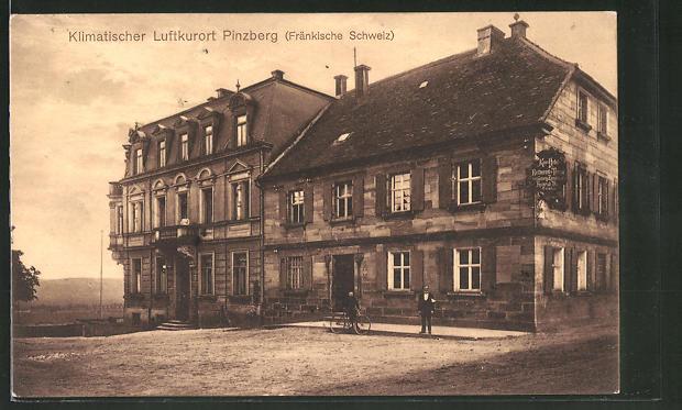 AK Pinzberg, Strassenpartie am Kurhotel