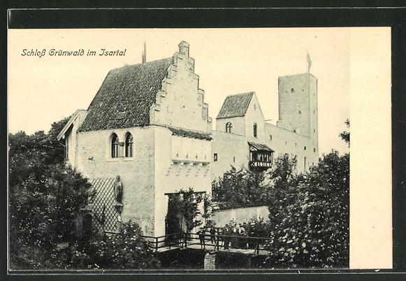 AK Grünwald, Blick auf Schloss Grünwald