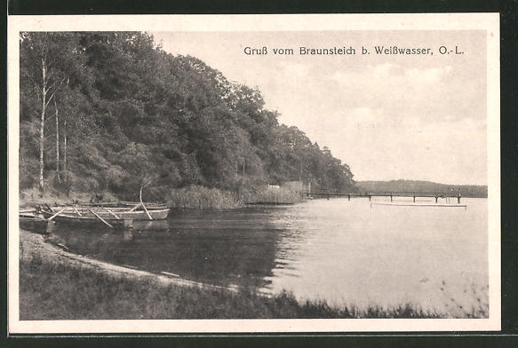 AK Weisswasser, Partie am Braunsteich