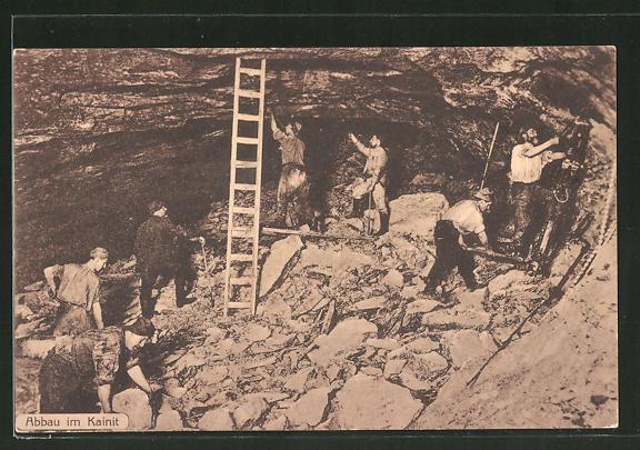 AK Abbau an Kainit, Bergleute bei der Arbeit
