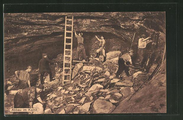 AK Abbau an Kainit, Bergleute in Mine