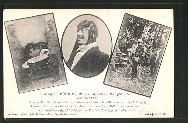 AK Flugzeug-Pilot Adolphe Pégoud