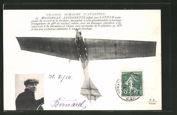 AK Monoplan Antoinette piloté par Latham