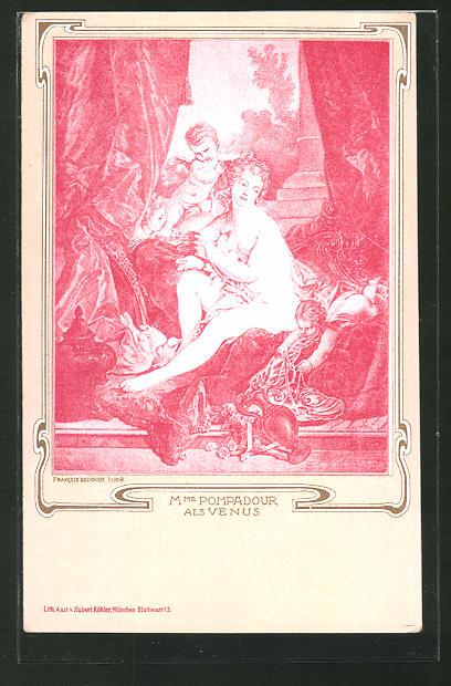 AK Madame Pompadour als Venus