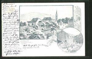 AK Etzelbach, Invalidenheim für männl. Rentenempfänger und Genesungsheim für Frauen