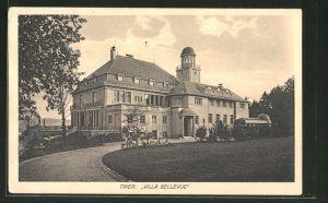 AK Trier, Villa Bellevue mit Garten