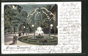 Mondschein-Lithographie Düsseldorf, Partie im Tonhallen-Garten