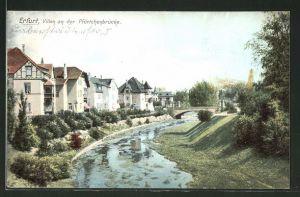 AK Erfurt, Villen an der Pförtchenbrücke