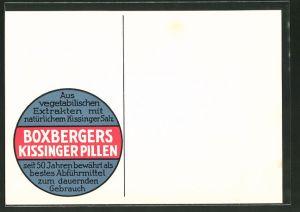 AK Bad Kissingen, Reklame für Medikament