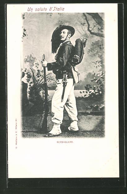 AK Bersagliere, Italienischer Infanterist in Uniform