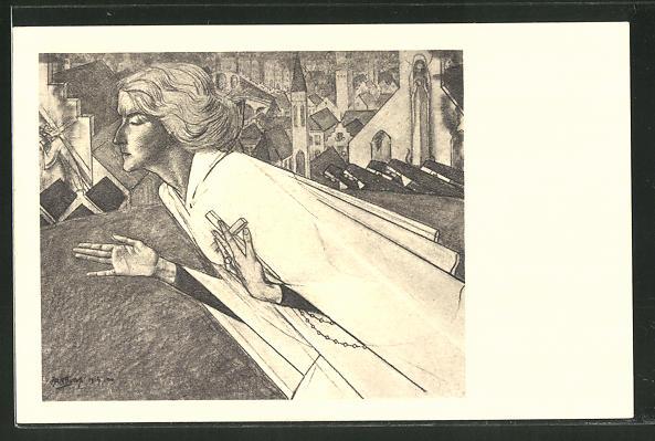 Künstler-AK Jan Toorop: