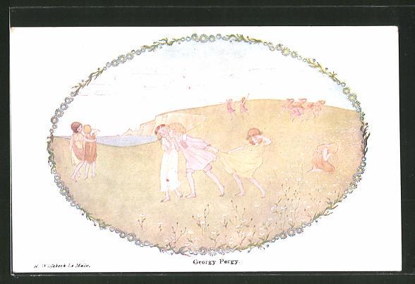 Künstler-AK Henriette Willebeek le Mair: Old Rhymes with New Pictures, Goergy Porgy, Kinderreim