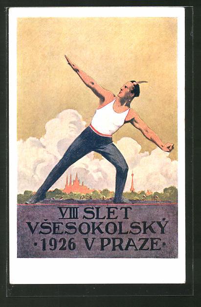 AK VII Slet Vsesokolsky 1926 V Praze, Sokol, Athlet, Turnfest