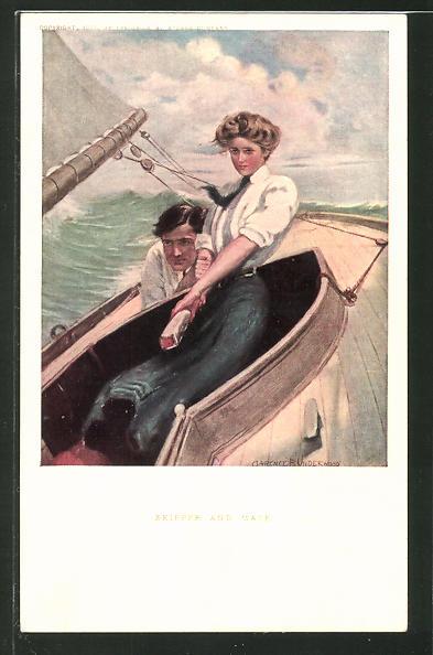 Künstler-AK Clarence F. Underwood: Skipper and Mate