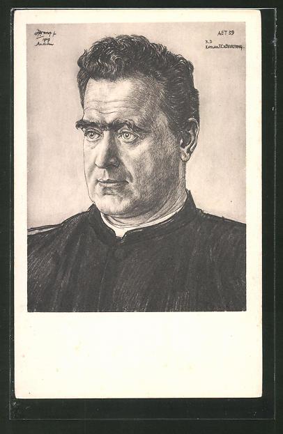 Künstler-AK Jan Toorop: Porträt des Kap. F.C. v. Beukering