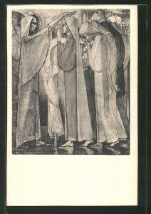 Künstler-AK Jan Toorop: De doop door Christus volgens Augustinus