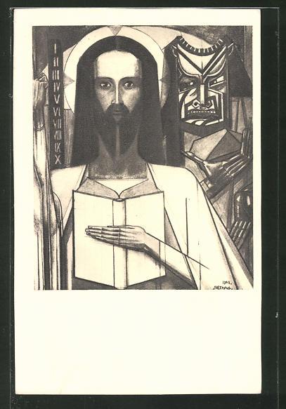 Künstler-AK Jan Toorop: Christus in de Woestijn