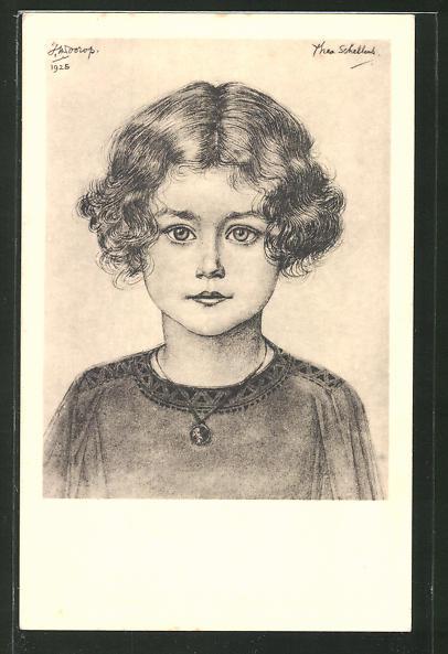 Künstler-AK Jan Toorop: Porträt der Thea Schellens