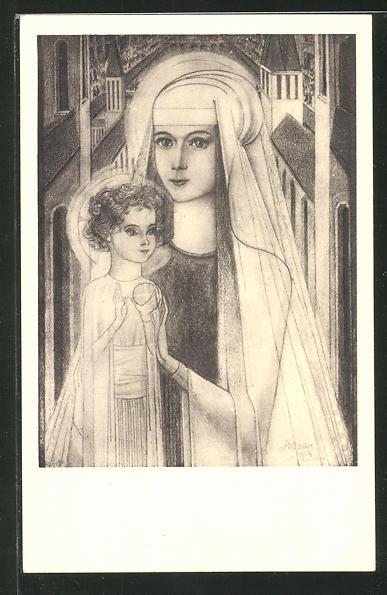 Künstler-AK Jan Toorop: Maria mit dem Kind
