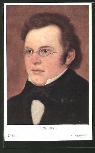 Künstler-AK Hermann Torggler: Portrait von F. Schubert