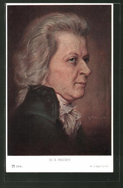 Künstler-AK Hermann Torggler: Portrait von W. A. Mozart