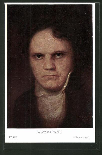 Künstler-AK Hermann Torggler: Portrait von L. van Beethoven
