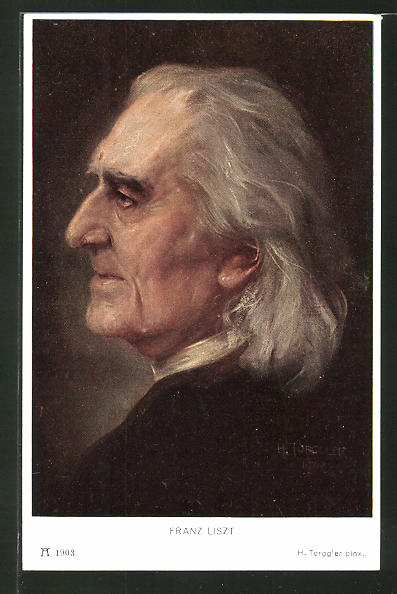 Künstler-AK Hermann Torggler: Portrait von Franz Liszt