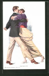 Künstler-AK Lester Ralph: Liebespaar tanzt Arm in Arm