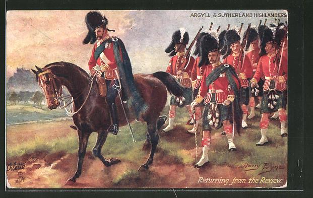 Künstler-AK Harry Payne: Argyll & Sutherland Highlanders