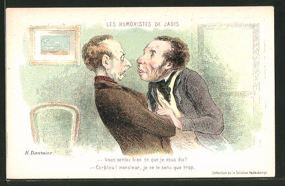 Künstler-AK sign. Honore Daumier: Les Humoristes de Jadis: