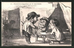 Künstler-AK sign. Honore Daumier: Matoiserie champetres: