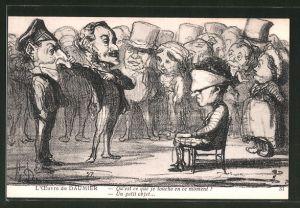Künstler-AK sign. Honore Daumier: